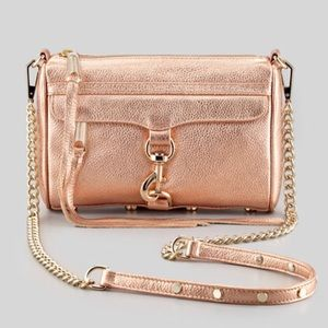 Rebecca Minkoff Rose Gold mini MAC bag